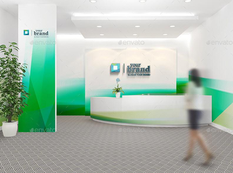 corporate reception PSD mockup