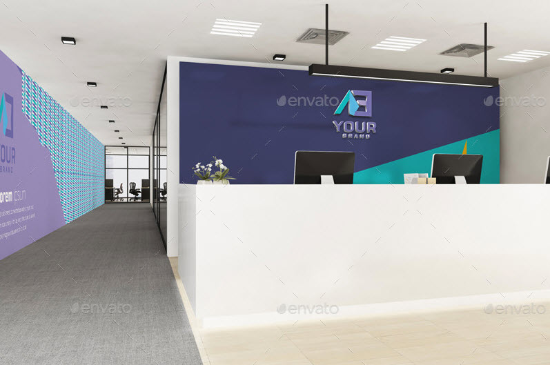Psd Mockup Business Reception
